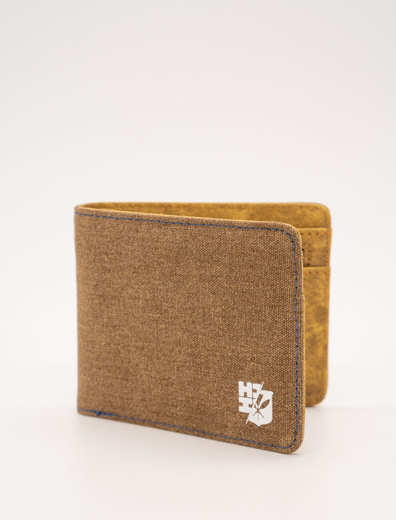MEN'S TAN SPLIT LOGO EMBLEM WALLET Utility Hawaii's Finest