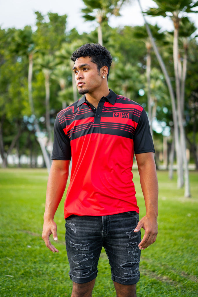 RED FLAG MINI COLLECTION GOLF SHIRT Polo Hawaii's Finest X-Small