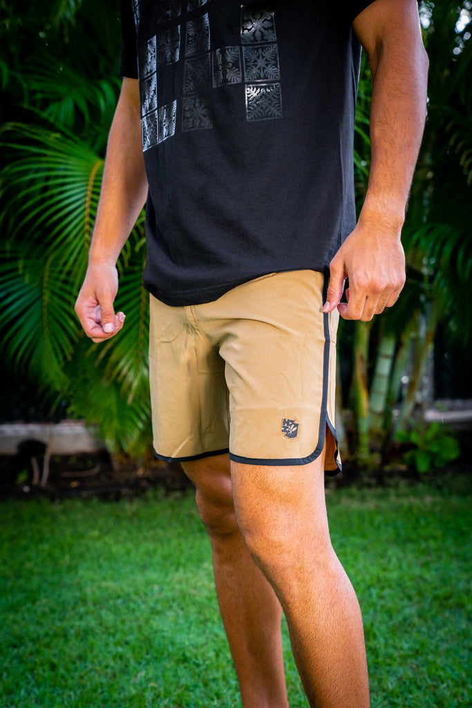 TAN HIFI PERFORMANCE BOARDSHORTS Shorts Hawaii's Finest 28