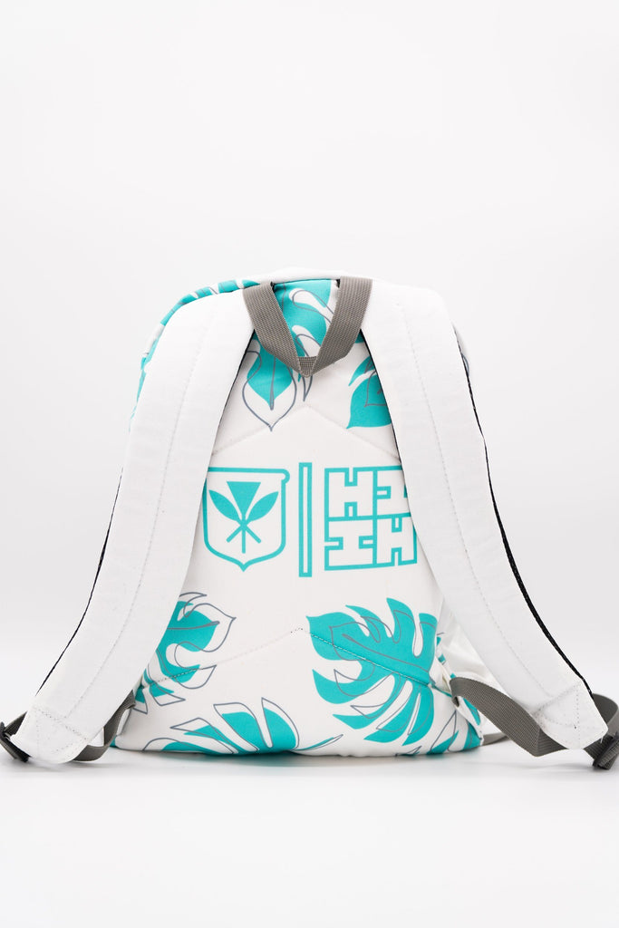 TEAL MONSTERA BACKPACK (ALL SALES FINAL) Backpack Hawaii's Finest