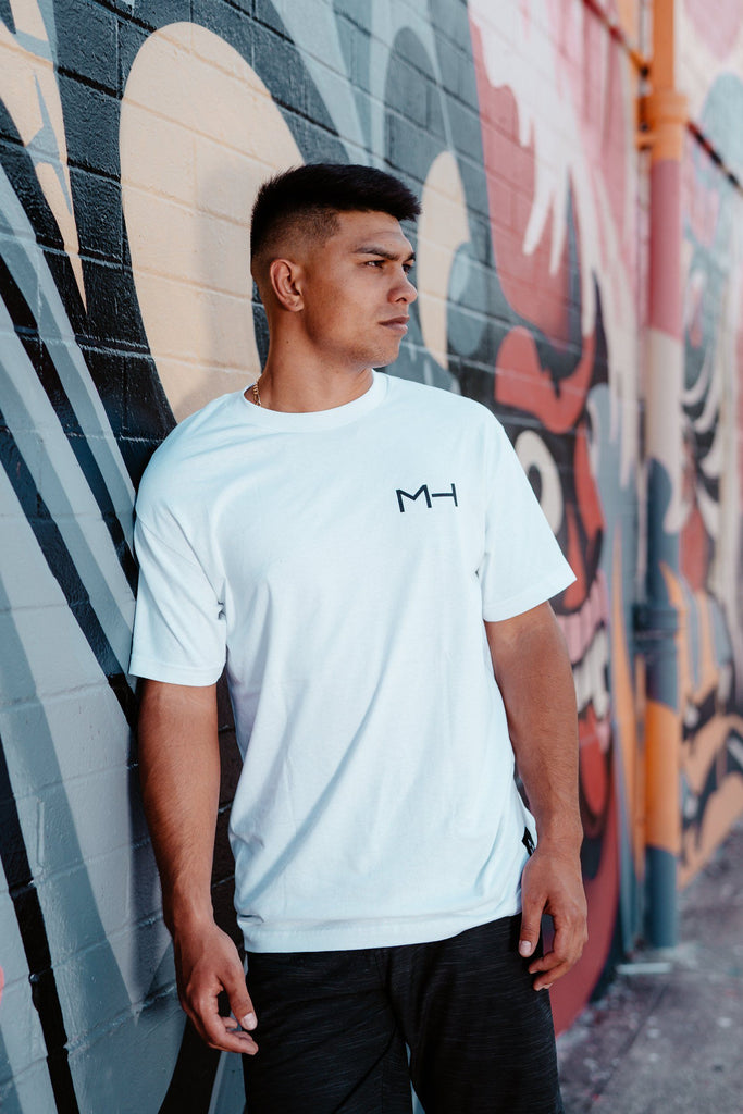 WHITE MH TEE Shirts Mau Hawaii Small