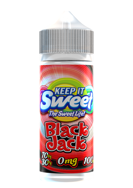 Blackjack - Keep It Sweet 100ml E-liquid Juice 70VG Vape
