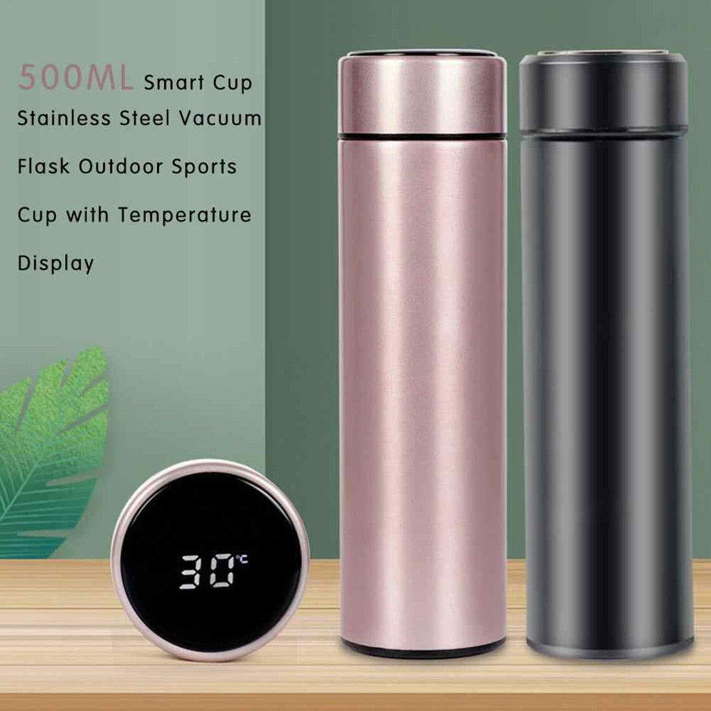 SMART THERMOS WITH BUILT IN TEMPERATURE DISPLAY