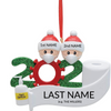 Family of 2 Personalized COVID Ornament