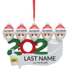 Family of 5 Personalized COVID Ornament
