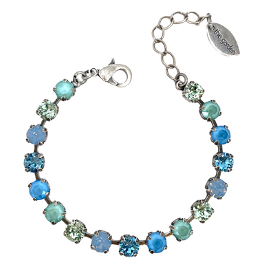 Sea Glass, 6mm Full Crystal Bracelet