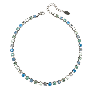 Sea Glass, 6mm Full Crystal Necklace