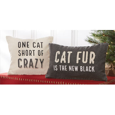 Crazy Cat, Canvas Pillow