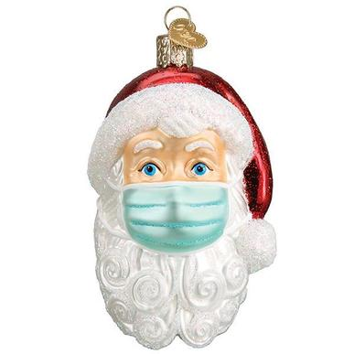 Santa Claus with Face Mask, Ornament