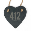 412 Pittsburgh Slate Heart Ornament