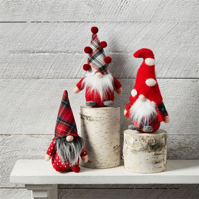 Small Red Pom Hat, Holiday Gnome