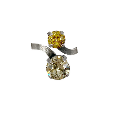 Sunflower, Crystal Snake Ring, Wholesale