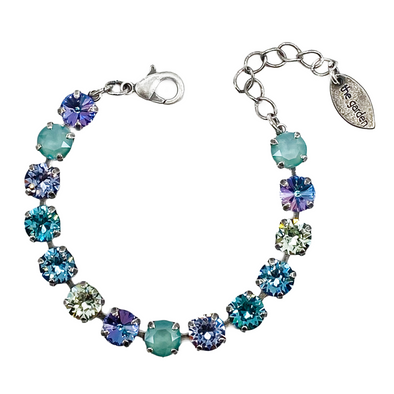 Iris, 8mm Full Crystal Bracelet in Antique Silver, Wholesale