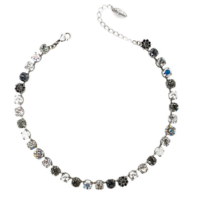Black Mix, 8mm Full Crystal Necklace
