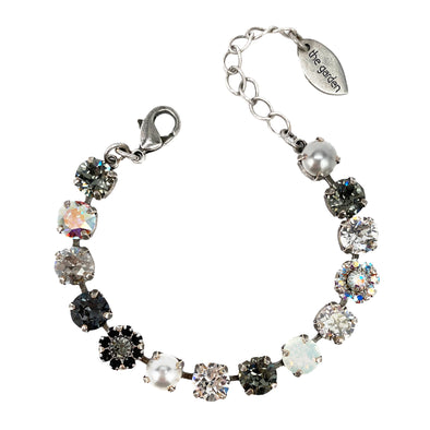 Black Mix, 8mm Full Crystal Bracelet