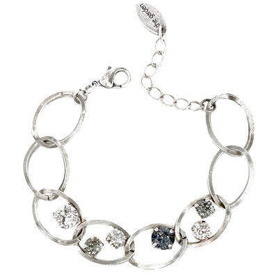Black and Grey, Crystal Chain Bracelet, Wholesale