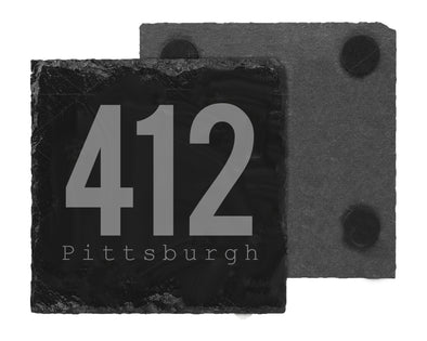 412 Pittsburgh Slate Coaster