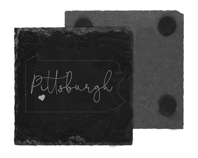 Pittsburgh, PA Slate Coaster