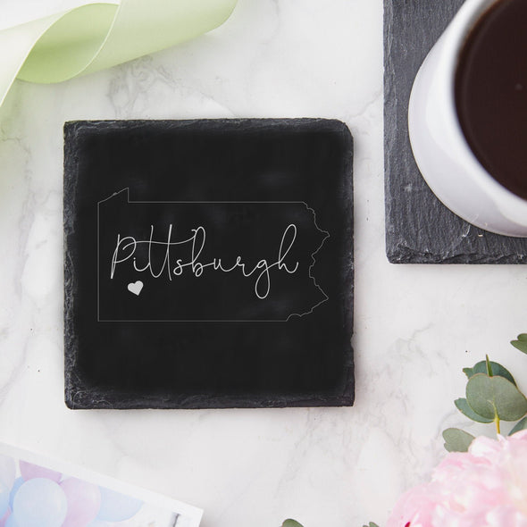 Pittsburgh, PA Slate Coaster, Wholesale