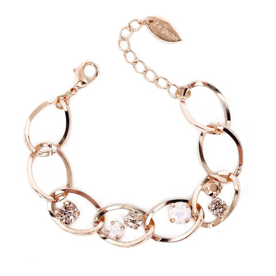 Juliet Crystal Chain Bracelet, Wholesale