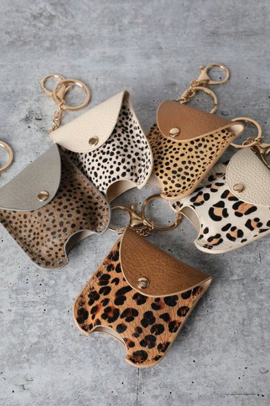 Animal Print, Refillable Hand Sanitizer Keychain