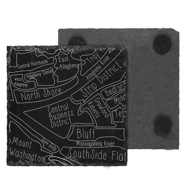 Neighborhood Map Slate Coaster