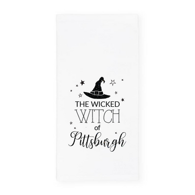 The Wicked Witch of Pittsburgh, Glitter Halloween Towel, Wholesale