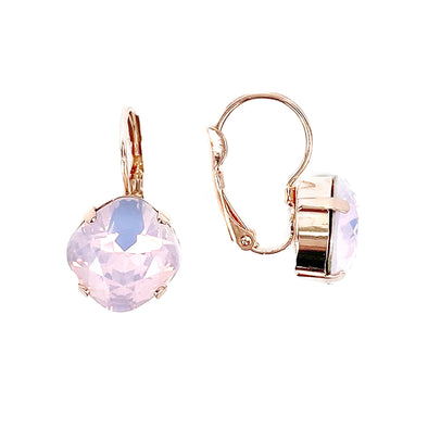 Rose Water Opal, 12mm Crystal Drop Earrings, Wholesale