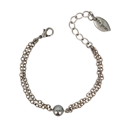 Grey Pearl, 2-Chain Bracelet, Wholesale