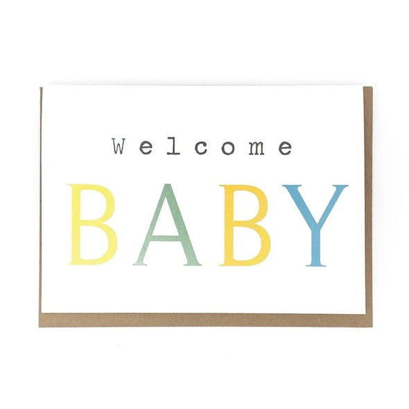 """Welcome BABY"", Baby Card"