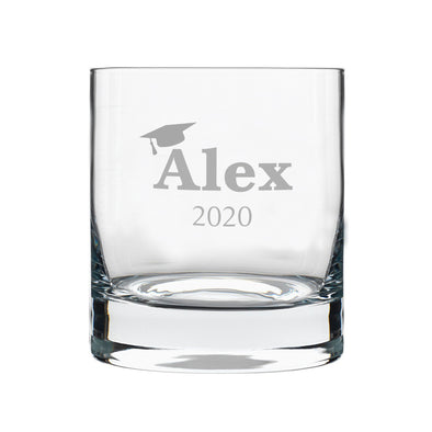 Graduate Custom Name, Rocks Glass