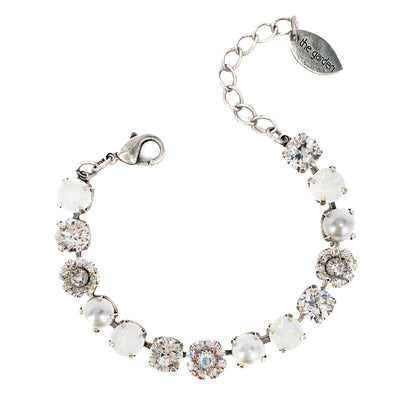 White Mix, 8mm Full Crystal Bracelet