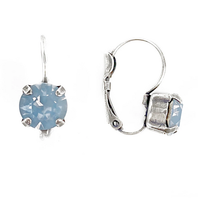 Air Blue Opal, 8mm Crystal Drop Earrings