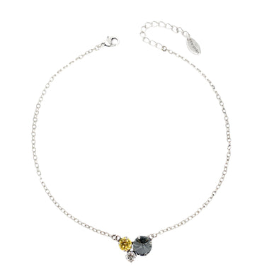 Black, Gold & Clear, 12/8/6 Crystal Necklace, Wholesale