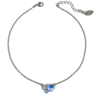 Blue Mix, 12/8/6 Crystal Necklace
