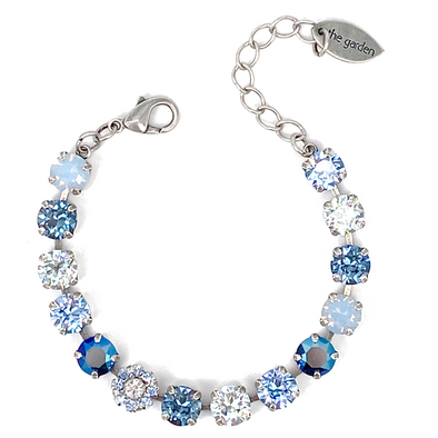 Blue Mix, 8mm Full Crystal Bracelet, Wholesale
