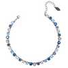Blue Mix, 8mm Full Crystal Necklace