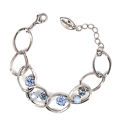Blue Mix, Crystal Chain Bracelet, Wholesale