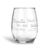 Pittsburgh Bridges, Stemless Wine Glass