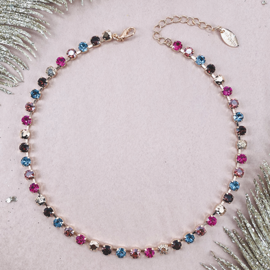 Spiced Chai, 6mm Full Crystal Necklace