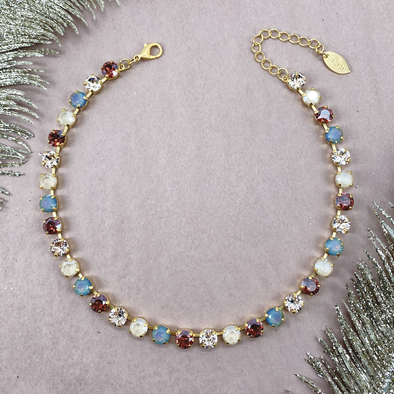Cashmere, 8mm Full Crystal Necklace