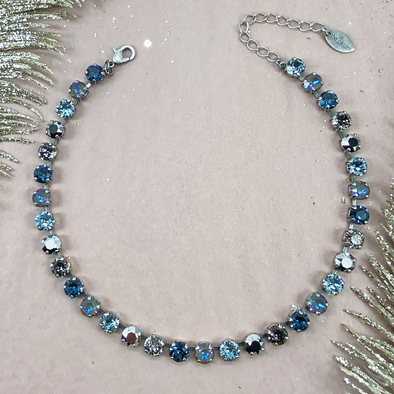 City Lights, 8mm Full Crystal Necklace
