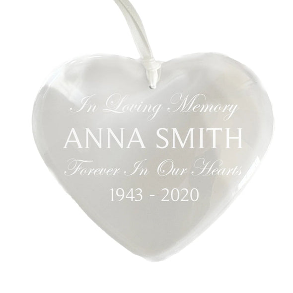 Crystal Heart Memory Ornament