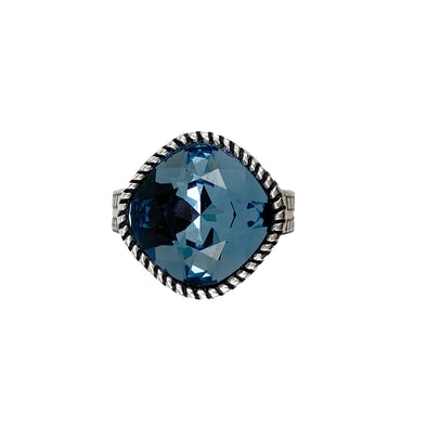 Denim Crystal Ring