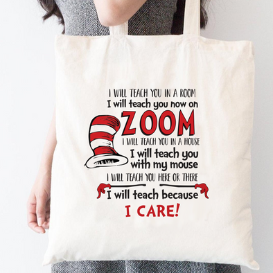 I Care, Teacher Tote Bag, Wholesale