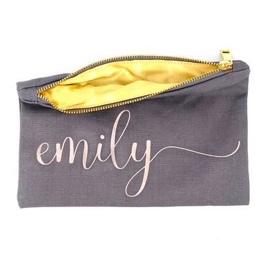 Custom Name Zipper Pouch