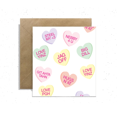 Pittsburgh Conversation Hearts, Small Enclosure Card