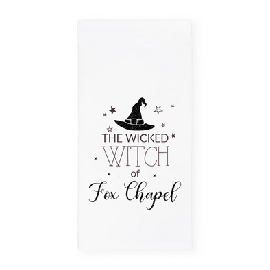 The Wicked Witch of Fox Chapel, Glitter Halloween Towel, Wholesale