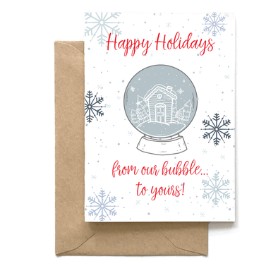 Happy Holidays From Our Bubble to Yours, Holiday Card Wholesale