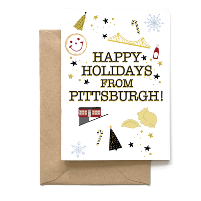 Happy Holidays From Pittsburgh, Holiday Card Wholesale